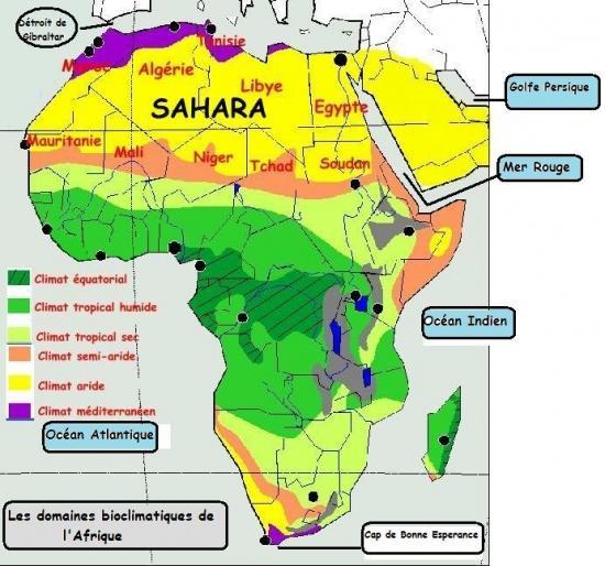 Carte Afrique Climat.Afrique Carte Bioclimatique