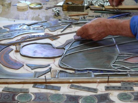 restauration de vitraux, création de vitraux dans le gard ...
