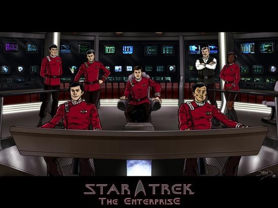 Fond d'écran de la passerelle de l'Enterprise