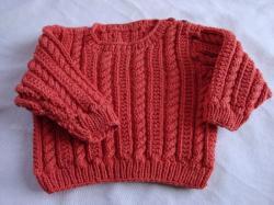 pull 6 mois, 50% coton 50% laine
