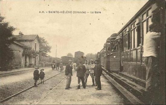 Train de voyageurs à Ste Hélène