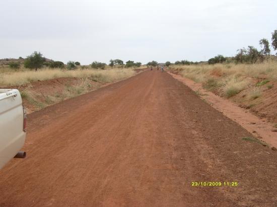 La piste nouvellement construite.