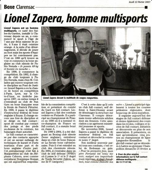 Article Midi Libre le 22 02 2007