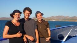 La Paz - Sabina, Andy y Sylvia sobre el ferry