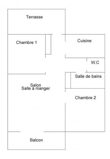 Appartement 75m² - 6  pers