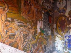 Zacatecas - parte de un fresco en el palacio del gobernor
