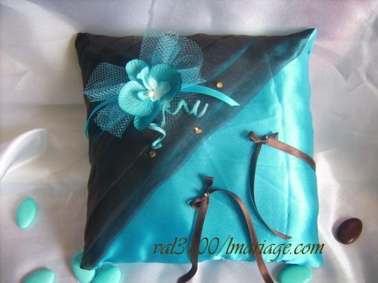 drapée chocolat turquoise orchidée