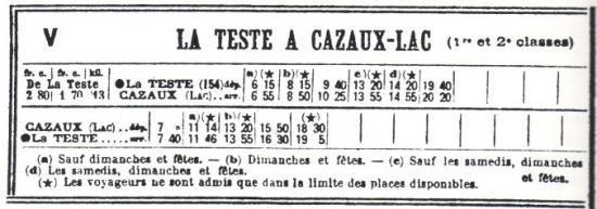 LTC Horaires 1928