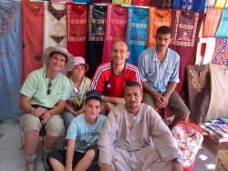 Avec Ayman, souk d'Assouan