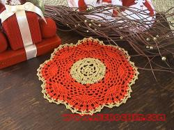 napperon crochet noel