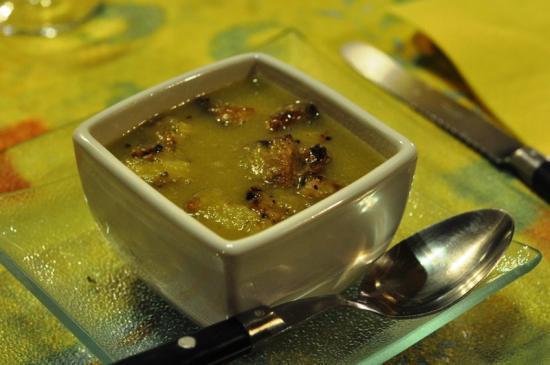 soupe aux croutons