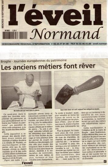 Article pour les JEP de 2007 a Broglie