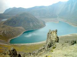Toluca - Nevado, vista sobre la laguna