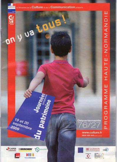 Affiche des JEP 2009 Au Moulinde Prey; On y va tous