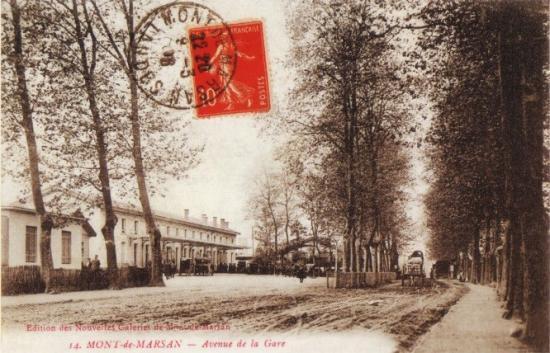 Mont de Marsan - cour de la gare