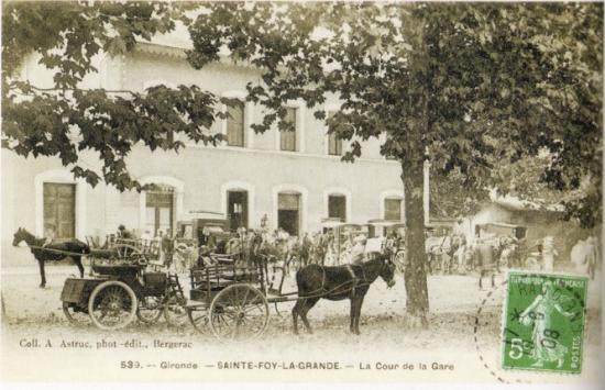 Ste-Foy - cour de la gare