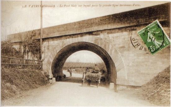 Vayres - le pont du chemin de fer