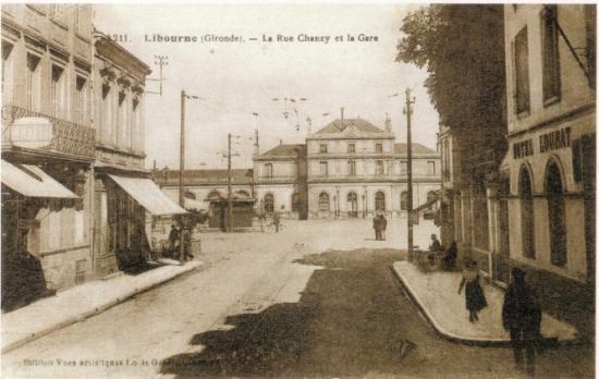 Accès à la gare de Libourne