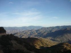 Hierve el agua - Vista sobre las montanas