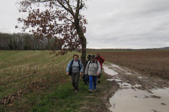 Randonneuses près de Génicourt