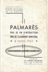 palmarès - prix de fin d'instruction - 8 mars 1952