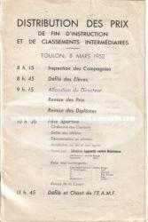 distribution des prix - toulon - 8 mars 1952