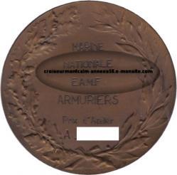 médaille - prix d'atelier - armurier - eamf - richelieu
