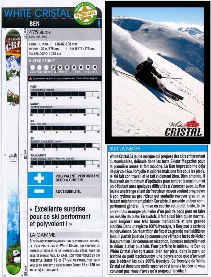 test White Cristal Skieur Magazine