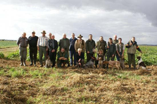 Concours de chasse Départemental St Hubert 2009 à Fourches