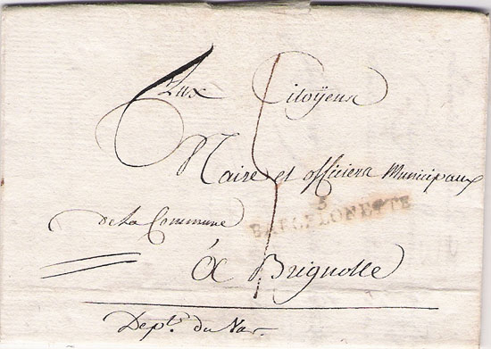 Courrier de 1794