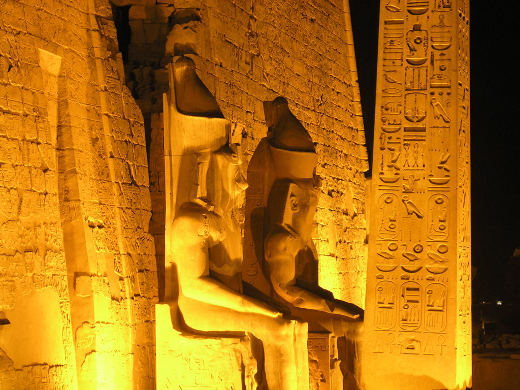 Statues de Ramès II - Temple de Louxor