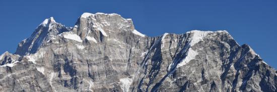 Gros plan sur le Gaurisankar depuis le Daldung La