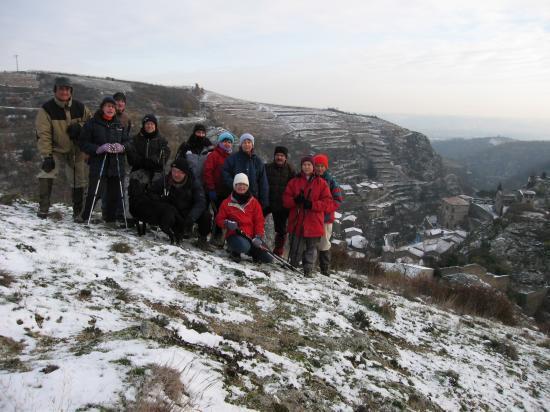 Le groupe au dessus de Malleval