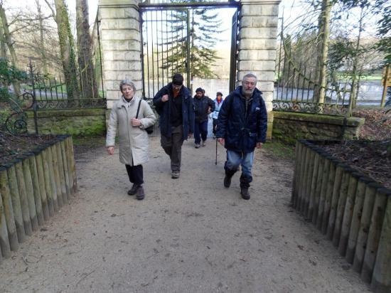 Sortie du parc de Grouchy à Osny