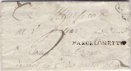 Courrier de 1817