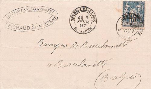 Courrier de 1897