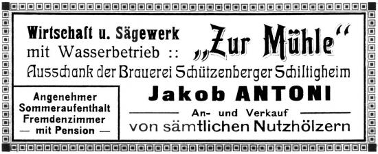 Publicité en 1913