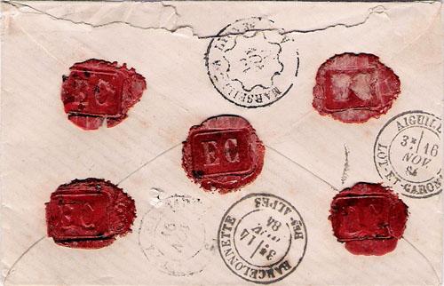 Courrier de 1884