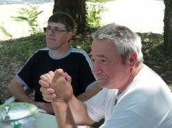 13 juin 2009,Christian a droite et JM17