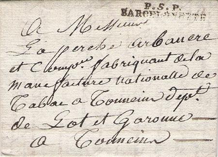 Courrier de 1808