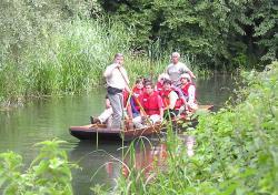 En barque sur le Thumenrhein