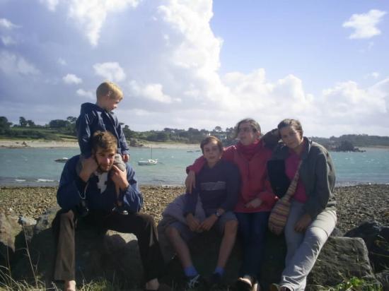 promenade familiale a la mer