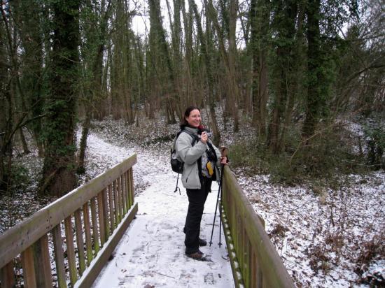 Annick sur le Petit Pont de bois