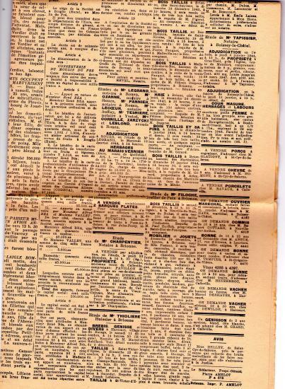 Extrait du Journal le Brionnais. Sur la création de la conserverie