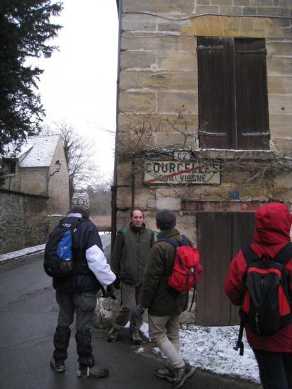 Panneau de sortie de Courcelles