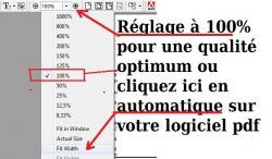 réglage de votre lecteur pdf