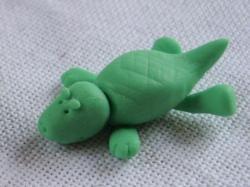 crocodile en porcelaine froide