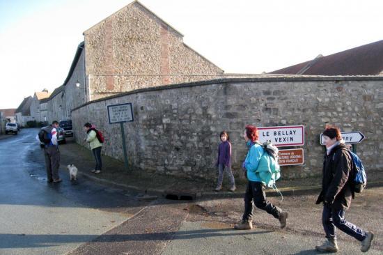 Randonneurs au Bellay en Vexin