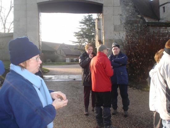 Pause devant la Ferme de l'Hôtel-Dieu au Bellay-en-Vexin