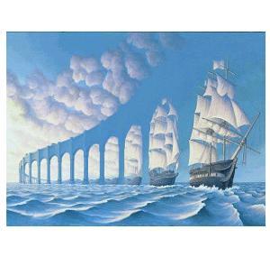 Lorsque nuages et voiles s'allient pour former un passage au dessus des mers...